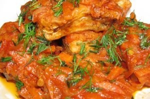Рыба в овощном соусе (38 минут)