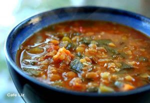 Lentil buckwheat soup