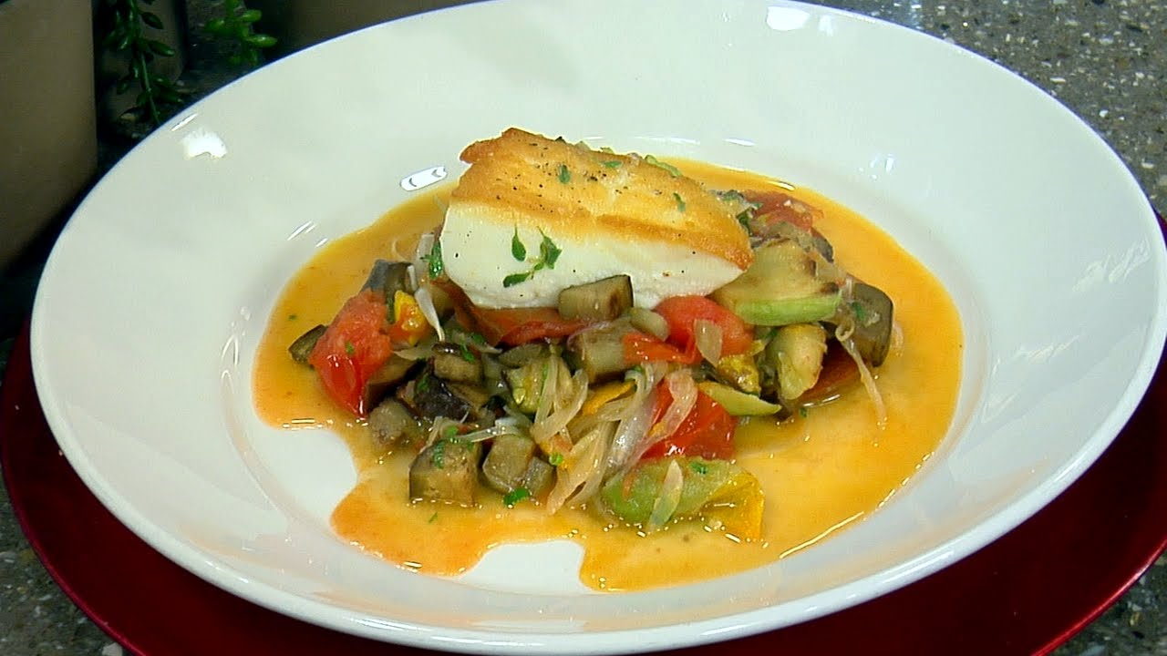 Halibut ratatouille