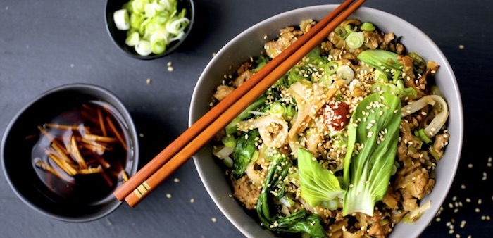 Turkey and Bok Choy Salad