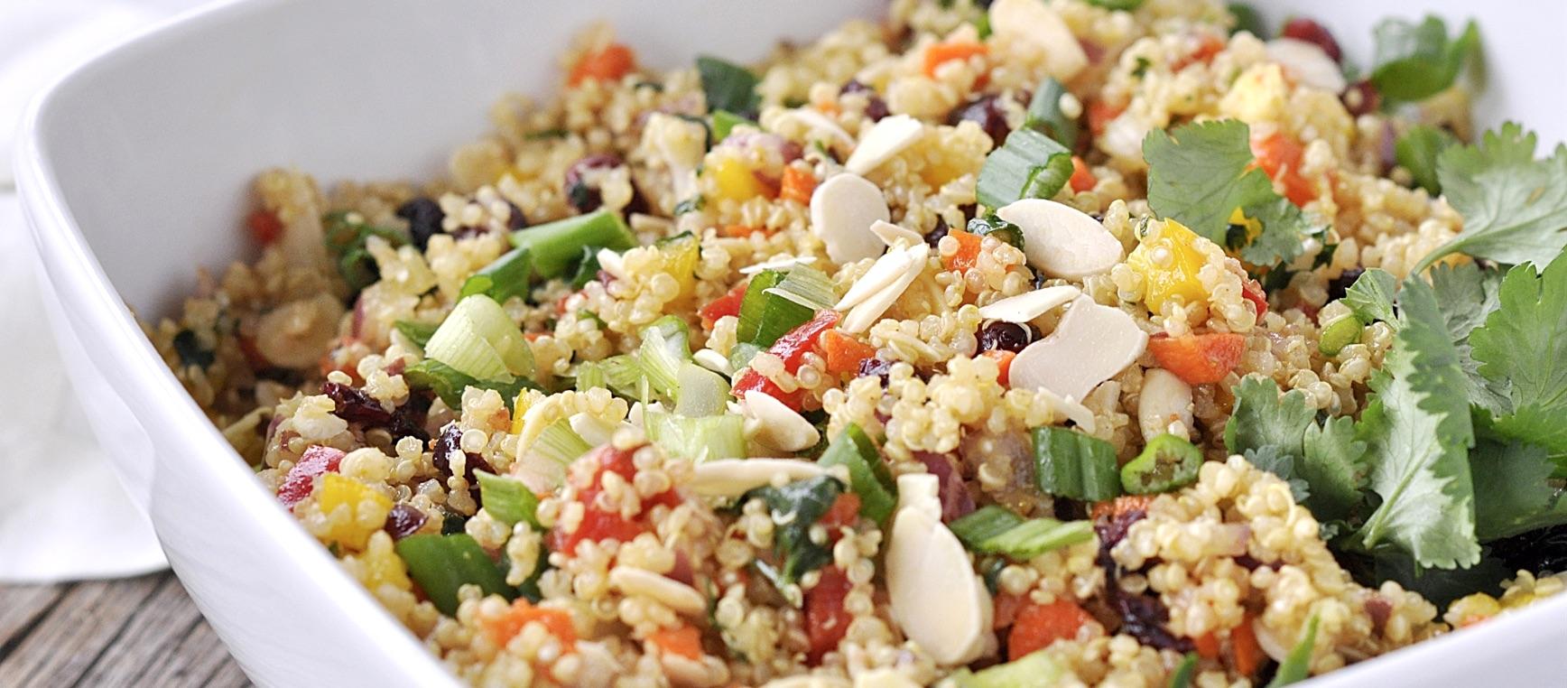 Quinoa salad with cilantro