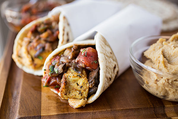 Hummus chicken  wrap